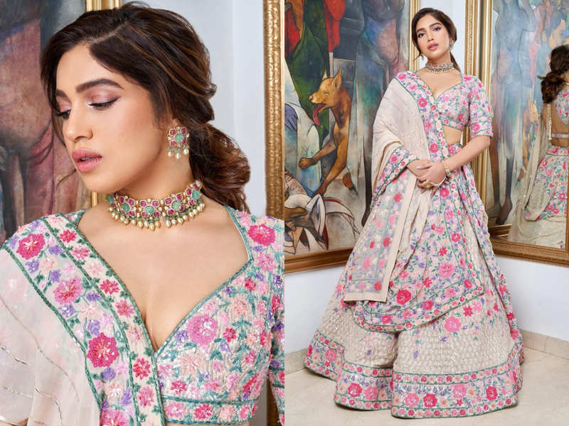 Bhumi Pednekar's ivory lehenga is perfect for a bride who wants to ditch red