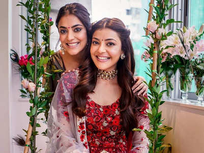 Kajal Aggarwal's Real Vs Reel wedding pics