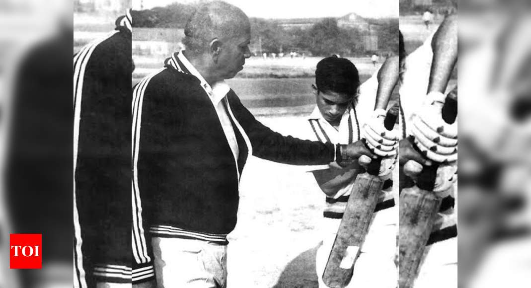 Sachin Tendulkar pens emotional note on coach Ramakant Achrekar's birth anniversary | Cricket News – Times of India