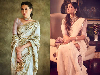 Karisma vs Sonam: Who wore the white sari better?