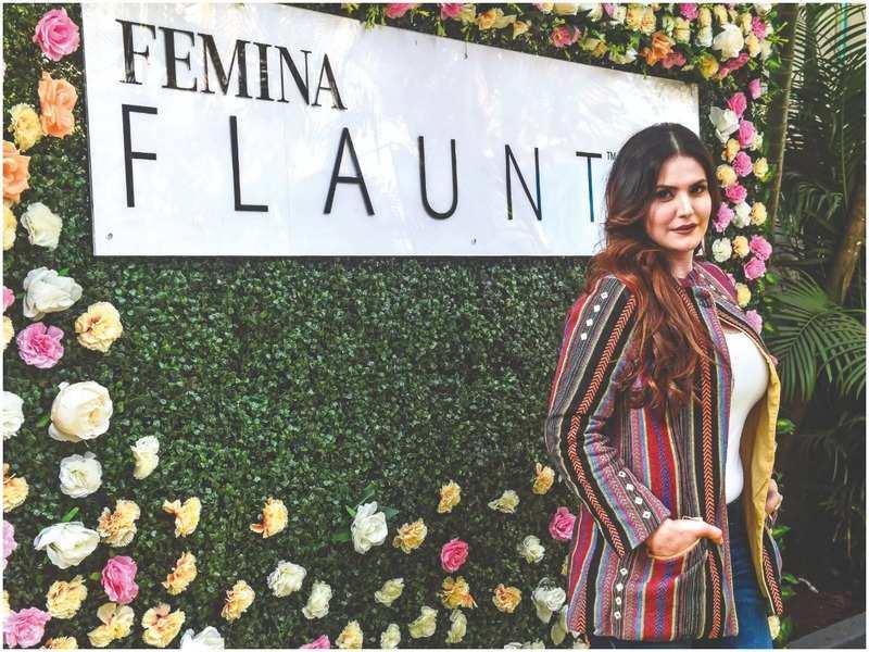Zareen Khan inaugurates Femina FLAUNT Studio Salon