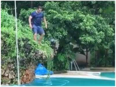 When Salman nailed a perfect backflip dive