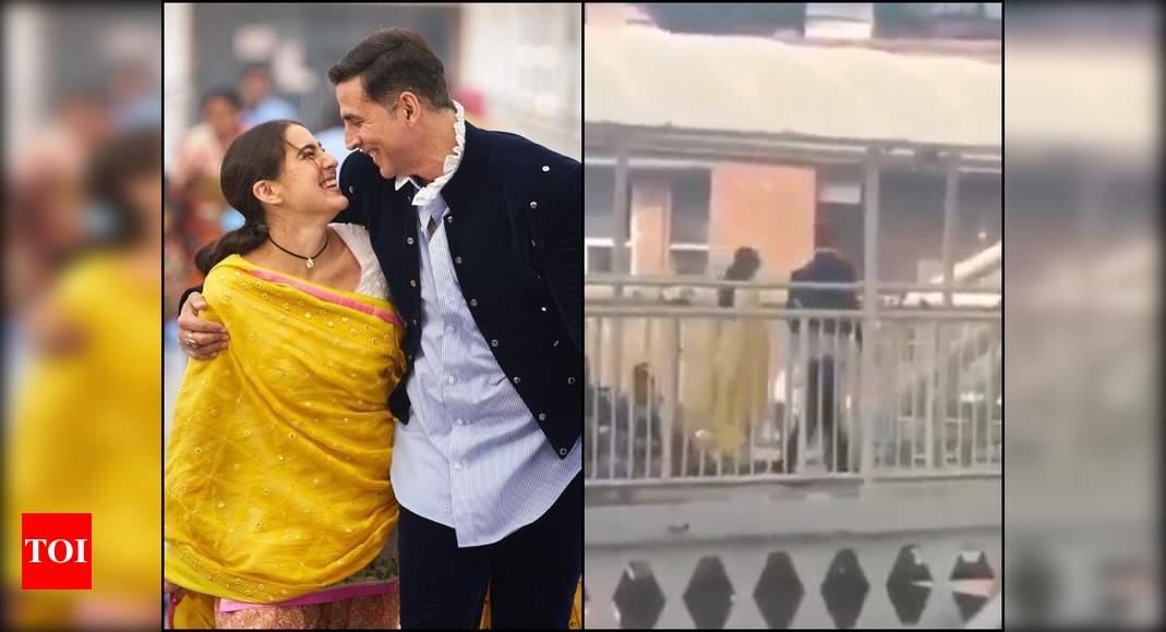 Video: Akshay & Sara shoot for Atrangi Re