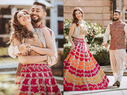 Gauahar's pre-wedding lehenga is gorgeous