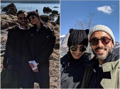 Sonam shares adorable pics with hubby Anand