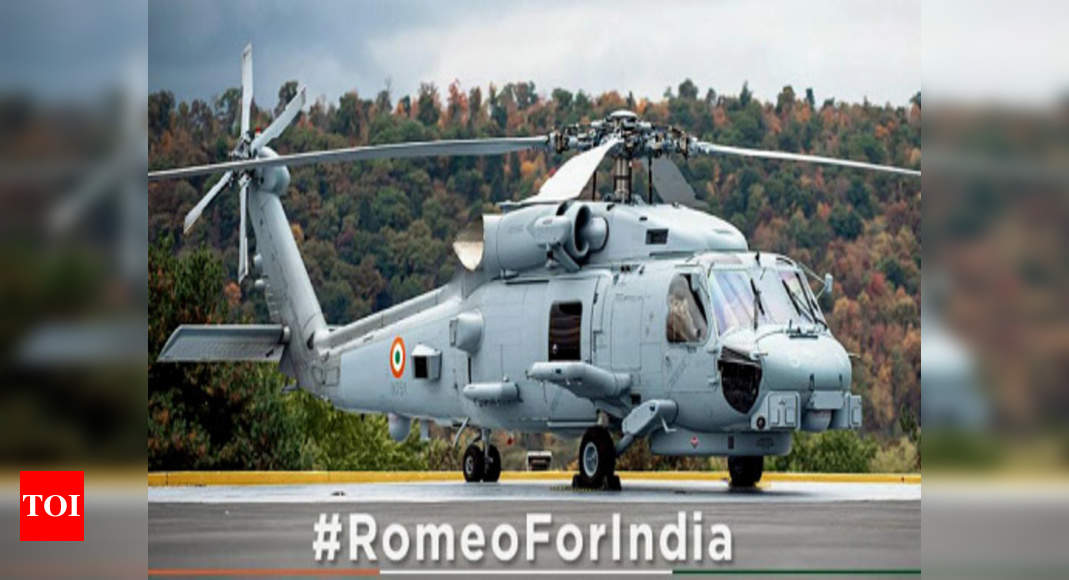 American firm Lockheed Martin shares first picture of MH-60 Romeo multirole helicopter for Indian Navy