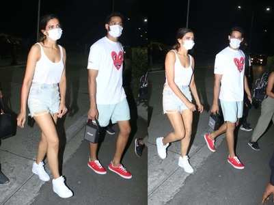 Pics: Deepika - Siddant return from Alibaug