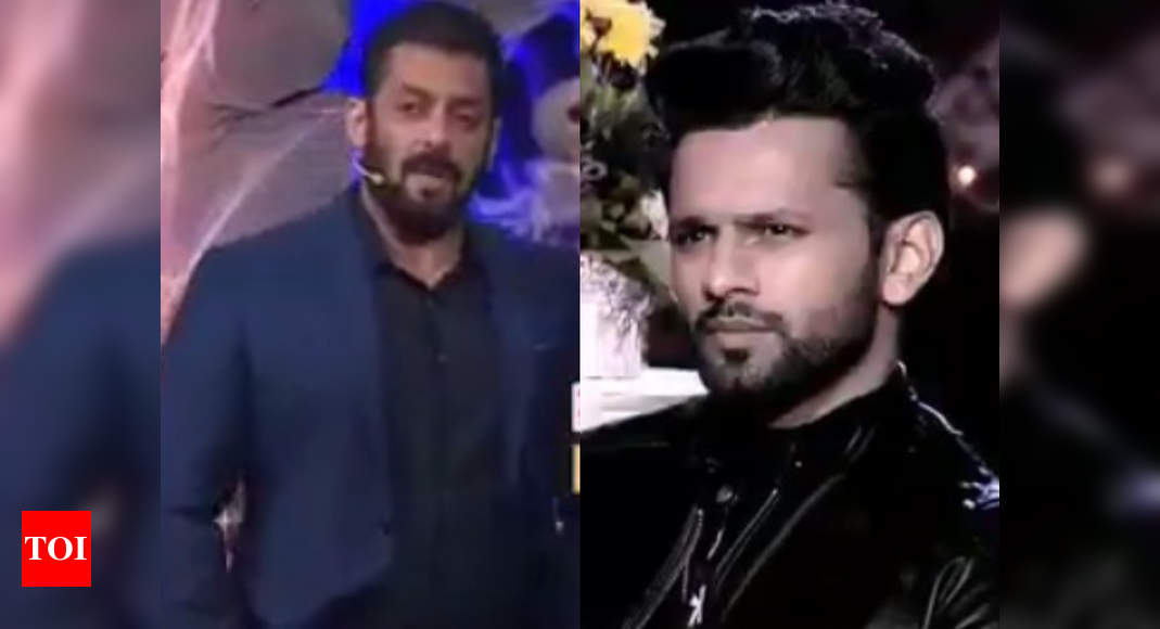 Bigg Boss 14: Salman Khan shows Rahul Vaidya the exit door on finale night; says, 'Please leave the house - Times of India