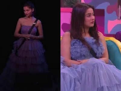 Rubina & Shehnaaz' similar lilac gowns