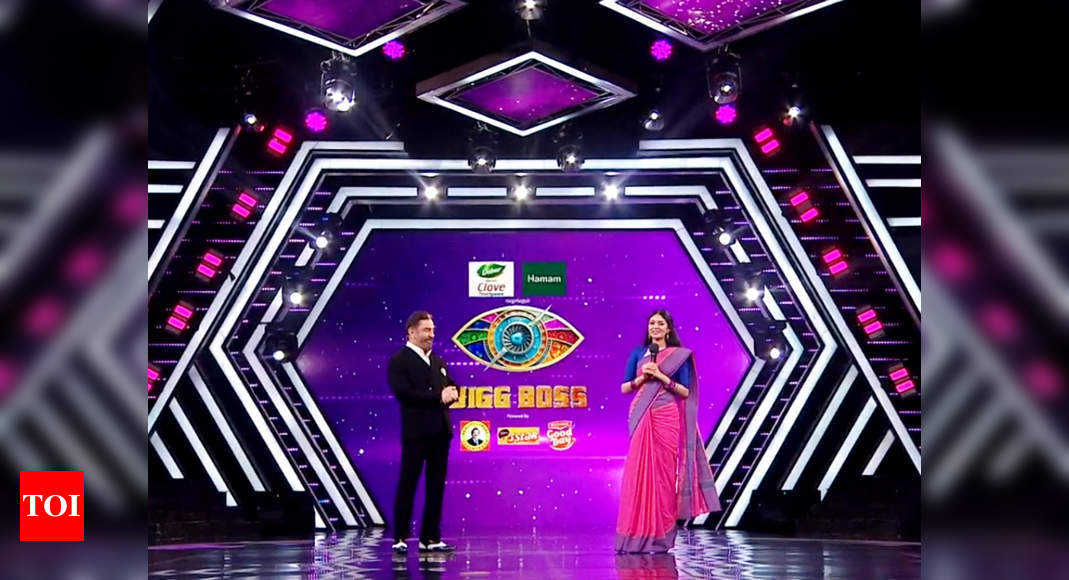 Bigg Boss Tamil 4: Sanam Shetty gets evicted; requests host Kamal Haasan to sing 'Oh Ho Sanam' – Times of India