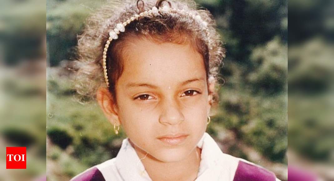 Kangana Ranaut takes a walk down memory lane with a RARE childhood photo, calls herself 'born old' – Times of India
