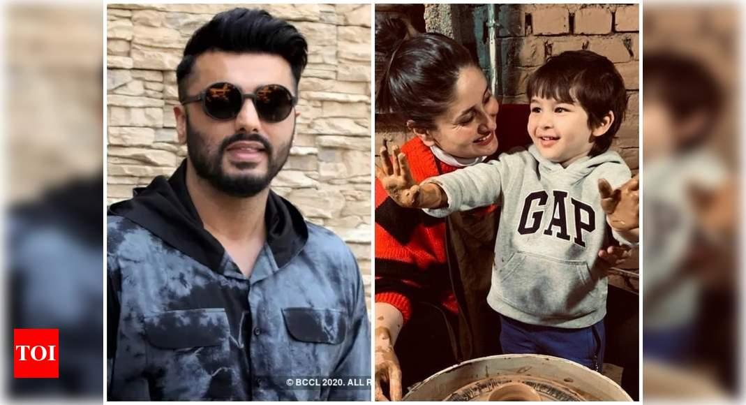 Arjun Kapoor shares a photo of Taimur asking 'Guess who?'; mom-to-be Kareena Kapoor Khan responds 'model' – Times of India