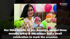 Actress Ankita Majumder Paul's little bundle of joy turns three months today