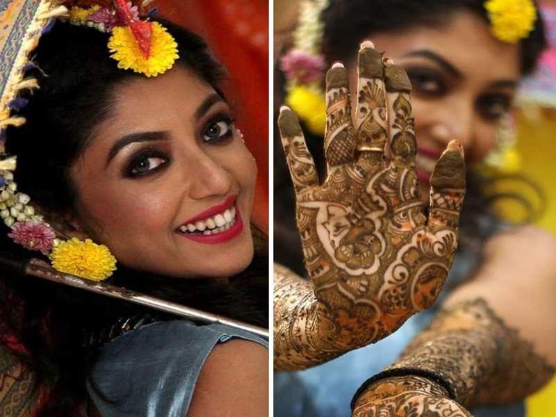 Gourab Chatterjee-Devlina Kumar's pre-wedding rituals begin; the bride-to-be flaunts her Mehendi - Times of India