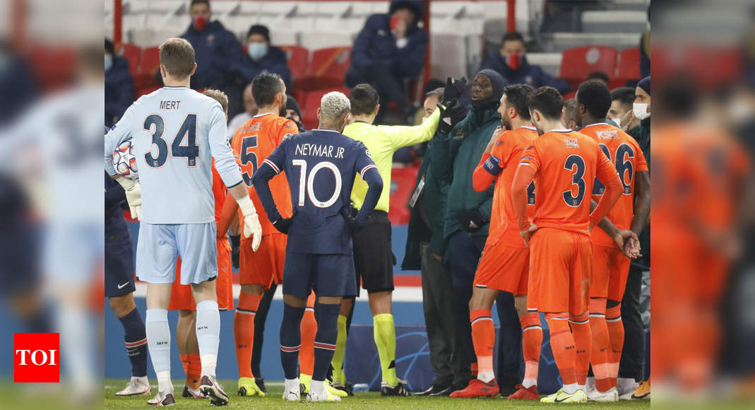 Champions League: Basaksehir and PSG players walk off ...