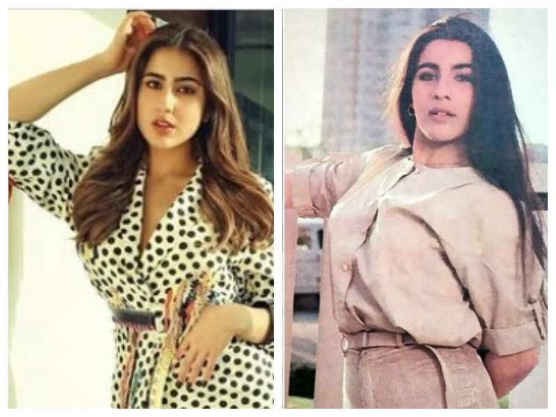 "Saif Ali Khan's sister Saba Ali Khan shares a photo collage of Sara Ali Khan and Amrita Singh, calls them ""classy duo"""
