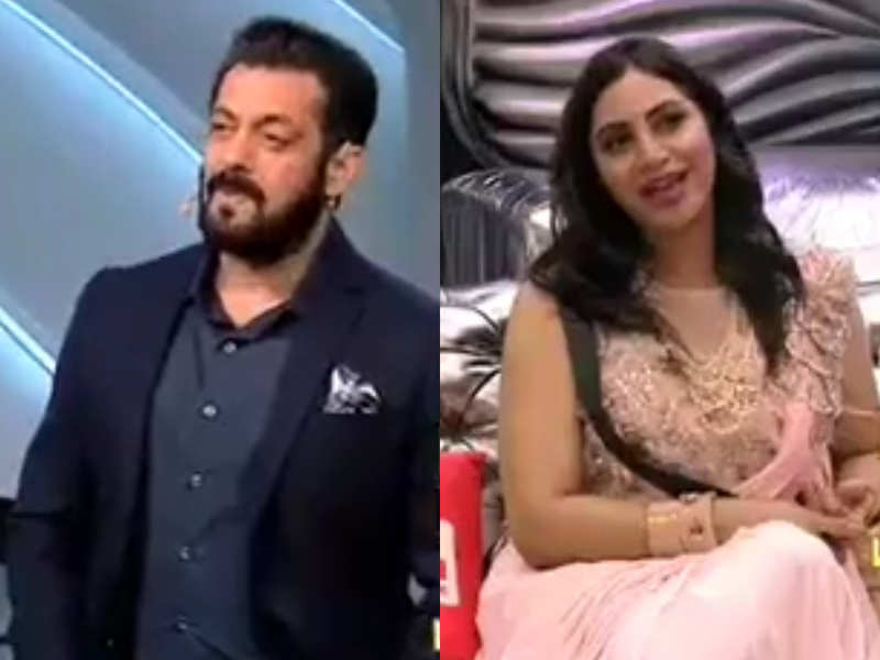 Bigg Boss 14: Salman Khan schools Arshi Khan, 'You have no right to tell me  what to do, it is better I don't talk to you' - Times of India