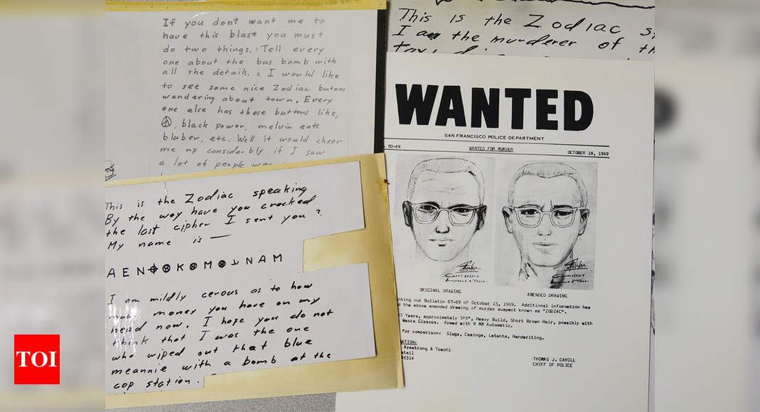 'Zodiac Killer' message decoded after more than 50 years – Times of India