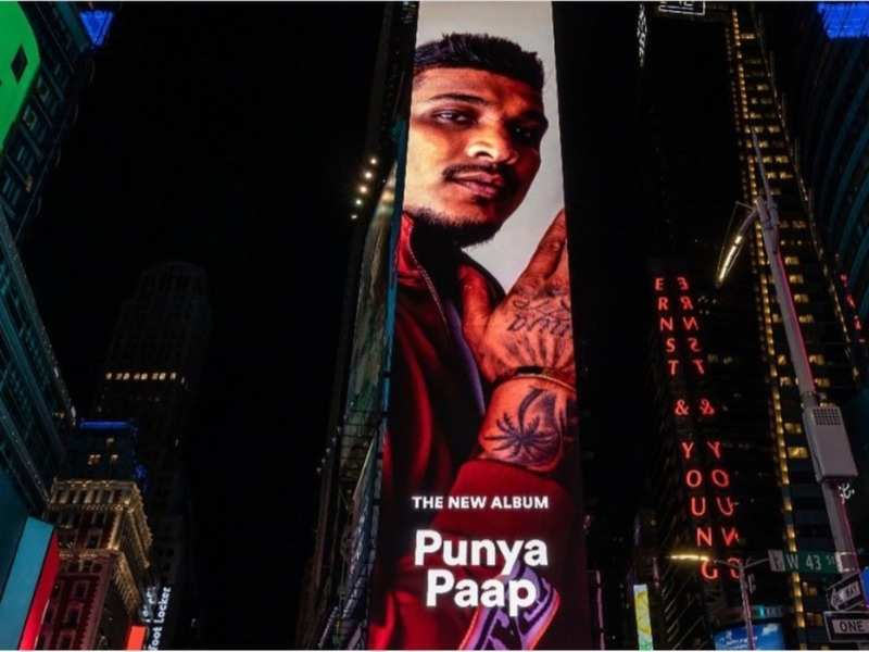 Divine Becomes The First Indian Rapper To Feature On New York Times Square Billboard Hindi Movie News Times Of India Enjoy from over 30 lakh hindi, english, bollywood, regional, latest, old songs and more. new york times square billboard