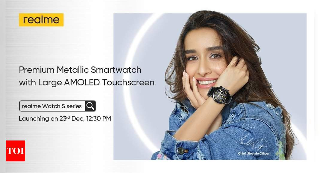 realme watch s:  Realme Watch S series, Buds Air Pro special edition to launch on December 23 in India – Times of India