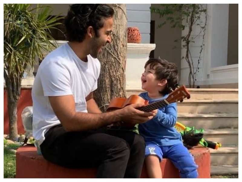 THIS throwback video of Taimur Ali Khan showing off his guitar skills to uncle Armaan Jain is simply too cute for words