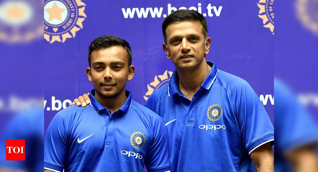 India need someone like Rahul Dravid on overseas tours to help youngsters like Prithvi Shaw, says Monty P - Times of India
