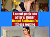 A sneak peek into actor and singer Deepti Sadhwani's fitness routine