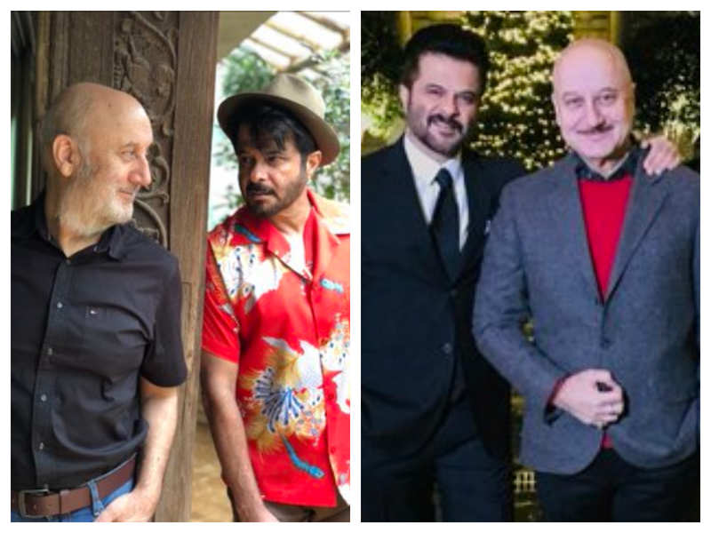 Anupam Kher shares throwback pictures with friend Anil Kapoor as he pens a sweet birthday wish for the actor
