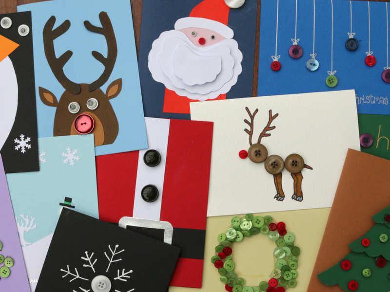 Merry Christmas Greeting Card: How to make Christmas card at home