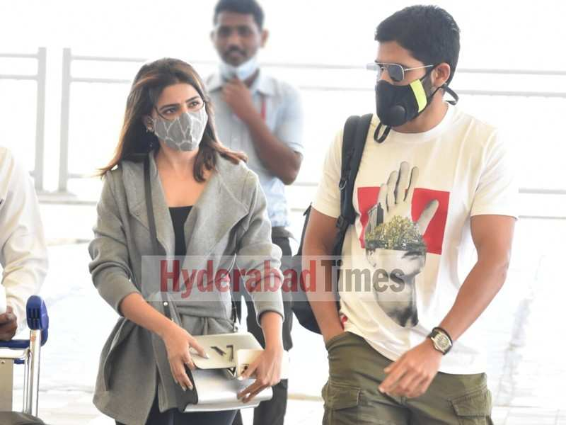Spotted: Samantha Akkineni and Naga Chaitanya opt for casual-chic airport looks as they fly out for New Year