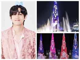 BTS' Kim Taehyung aka V creates history as first K-Pop star to feature on Burj Khalifa; ARMY says 'We Purple You'