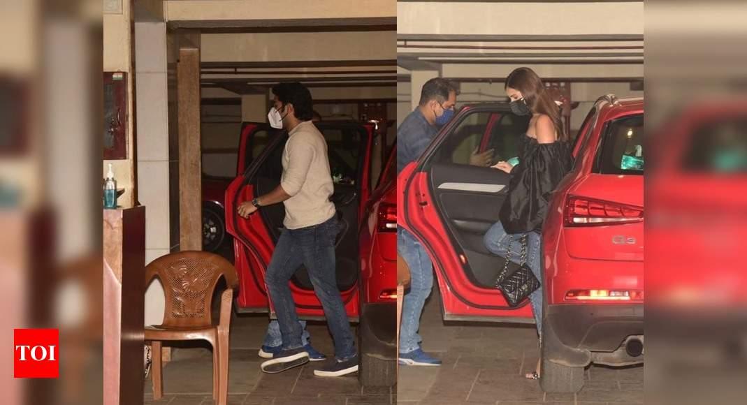 Photos: Tara Sutaria and Aadar Jain arrive at Kareena Kapoor Khan – Saif Ali Khan's residence – Times of India