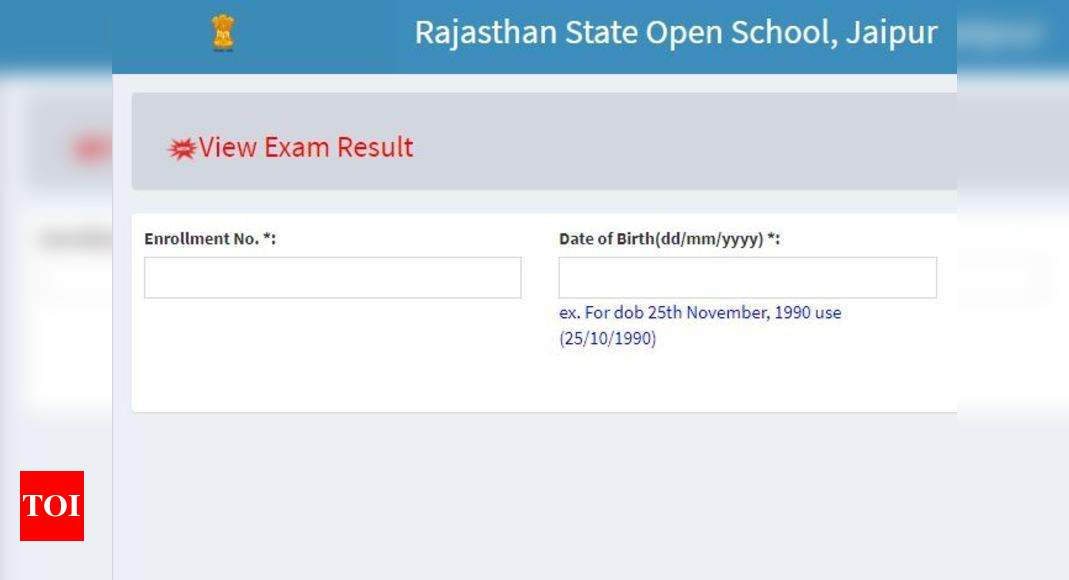 RSOS 12th result 2020 declared, check here – Times of India