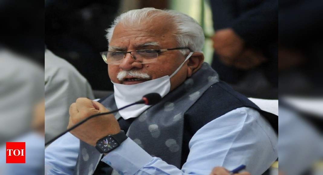 BJP did well in Haryana civic polls despite odd circumstances: CM Khattar | India News – Times of India