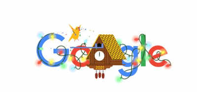 Google announces the arrival of the New Year with doodle | India News