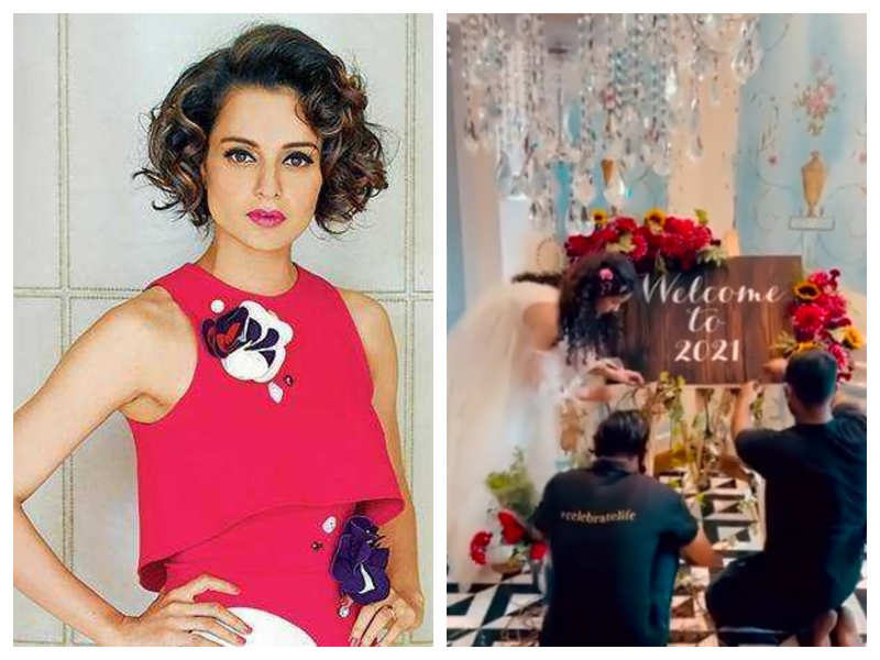 "Watch: Kangana Ranaut hosts a special brunch for her 'Dhaakad' team who has been ""working tirelessly"" even during holidays"