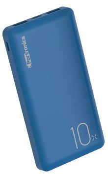 Portronics POR-1047 POWER WALLET 10X 10000mAh Li-Polymar Power Bank (Blue)