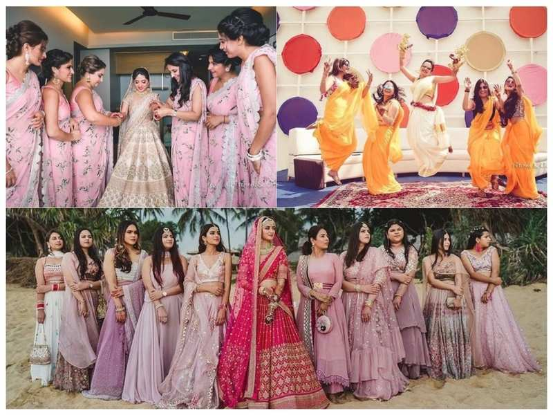 Bridesmaid fashion for the wedding season. Pic credit: @hitchedandclicked and @reelsandframes