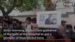 'Dada! Dada!' Sourav Ganguly's fans gather for a grand sendoff from hospital.