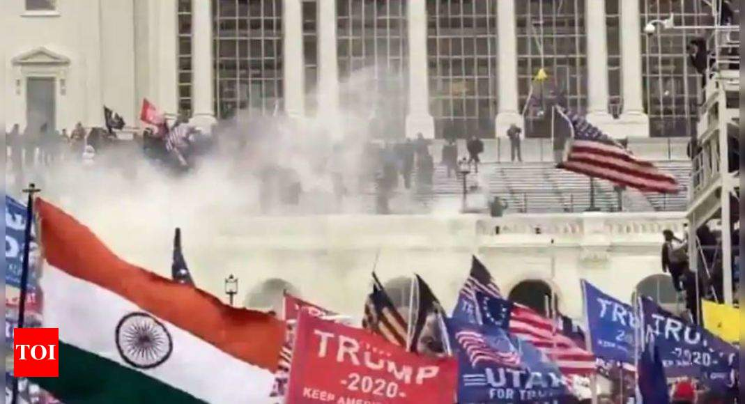 timesofindia.indiatimes.com: Indian flag seen at pro-Trump rally which some Indian-Americans joined