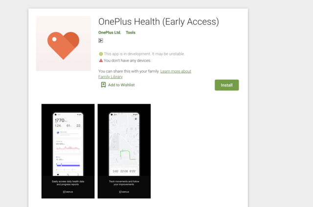 OnePlus Health app appears on Google Play Store, key features revealed
