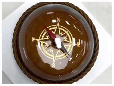 A glimpse of this chocolate compass with transparent sugar dome left the netizens drooling!