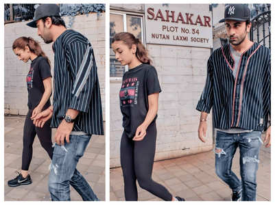 Alia and Ranbir go out and about in the city