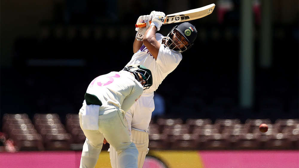 In Pics: Injured Rishabh Pant missed out on a ton but gave India a fighting  chance in Sydney | The Times of India