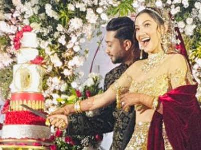 Gauahar Khan's grand wedding cake