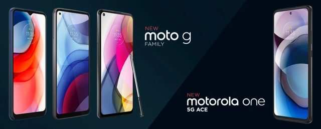 Motorola One 5G ace, Moto G Stylus, Moto G Power and Moto G Play launched