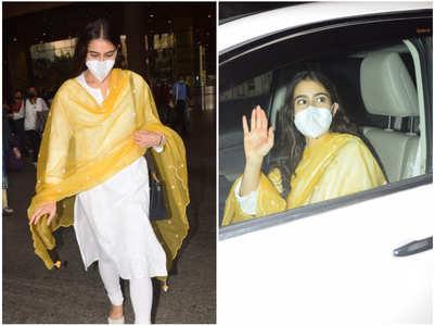 Sara Ali Khan gets clicked at the airport