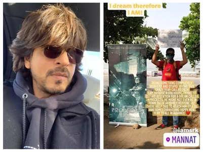 Young filmmaker camps outside SRK's Mannat