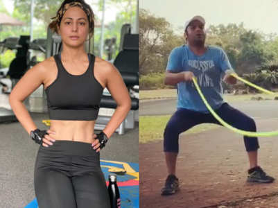 IN PICS: TV celebs sweat it out in 2021