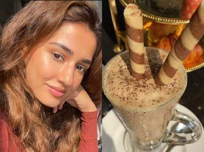Disha binges on delicious looking dessert